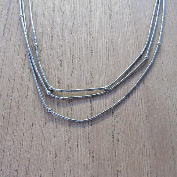 Jewelry - Vintage 925 Sterling Multistrand Liquid Necklace